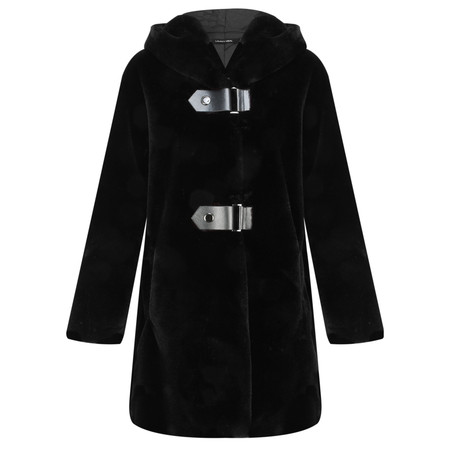 Lauren Vidal Oslo Supersoft Hooded Coat - Black