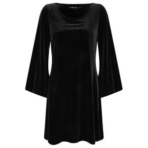 Lauren Vidal Amber Drape Velvet Dress