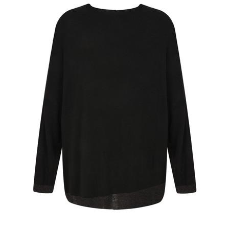 Lauren Vidal Joyce Oversize Knit Top - Black