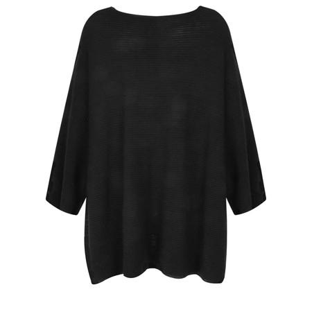 Lauren Vidal Eden Oversized Poncho - Black