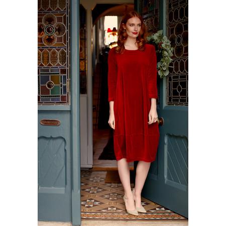 Sahara Velvet Jersey Bubble Dress - Red