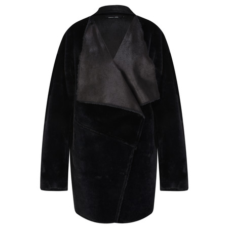 Lauren Vidal Luna Faux Fur Shearling Jacket - Black