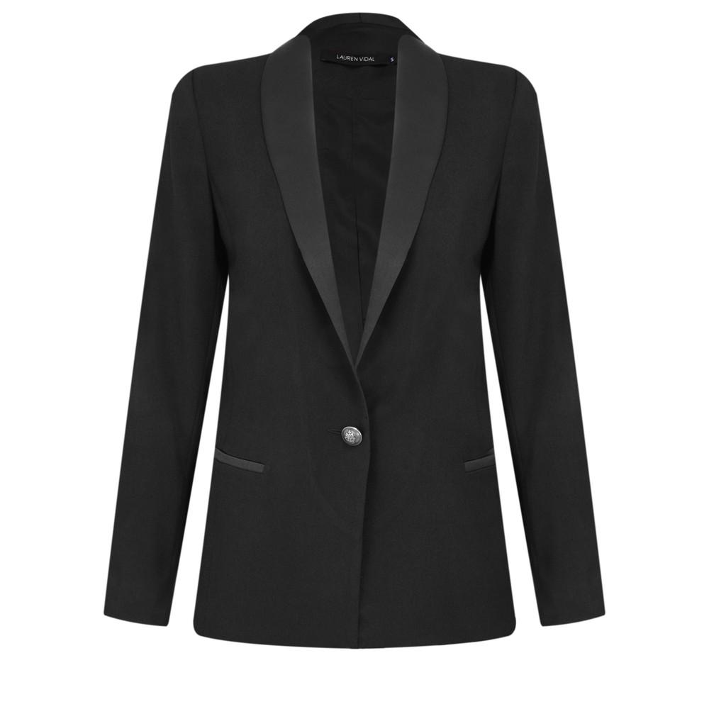 Lauren Vidal Eden Tux Jacket Noir Black