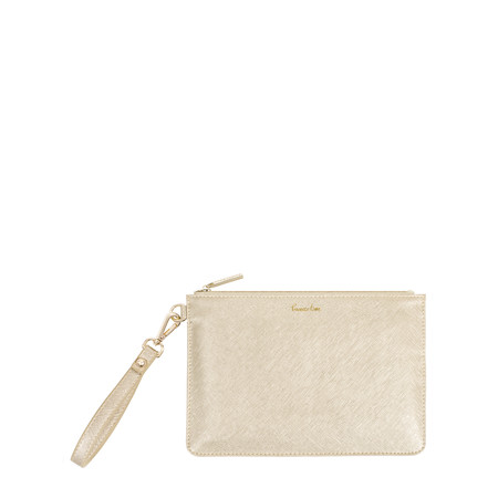 Katie Loxton Secret Message Pouch - Prosecco Time/Enjoy Today Sip Sip Hooray! - Gold