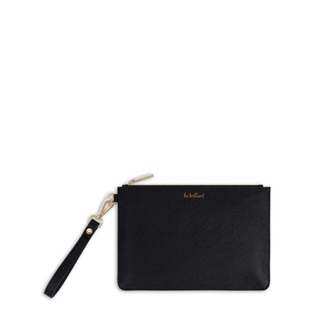 Katie Loxton Secret Message Pouch - Be Brilliant/She Believed She Could So She Did! - Black