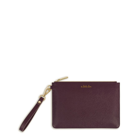 Katie Loxton Secret Message Pouch - A Little Love/Carry A Little Love With You Wherever You Go - Purple