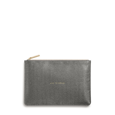 Katie Loxton Perfect Pouch - Live To Dream - Grey