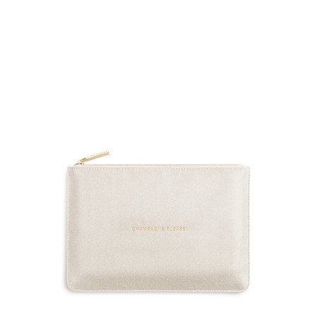 Katie Loxton Perfect Pouch - Champagne Please! - Gold