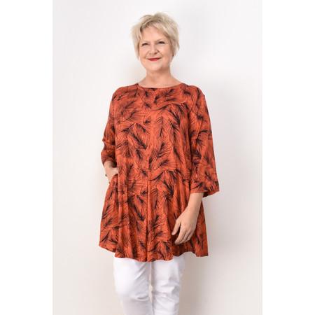 Masai Clothing Glenva Feather Print Tunic - Orange