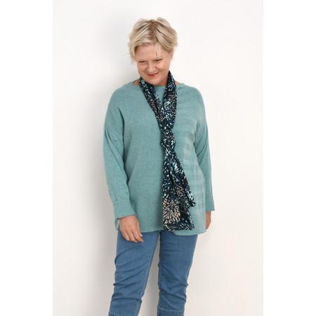 Masai Clothing Fleur Stripe Knit Jumper - Blue