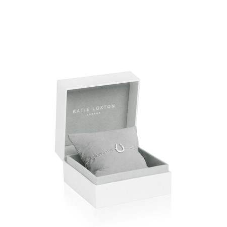 Katie Loxton Sterling Silver Bracelet - Love Luck Sparkle - Metallic