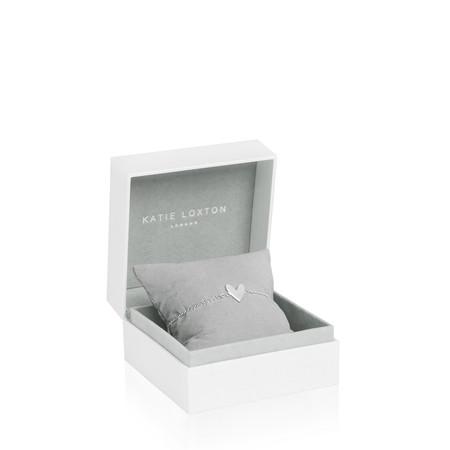 Katie Loxton Sterling Silver Bracelet - Live Love Laugh - Metallic