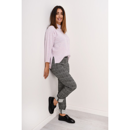Robell Trousers Holly Smart Check Full Length Trouser - Black