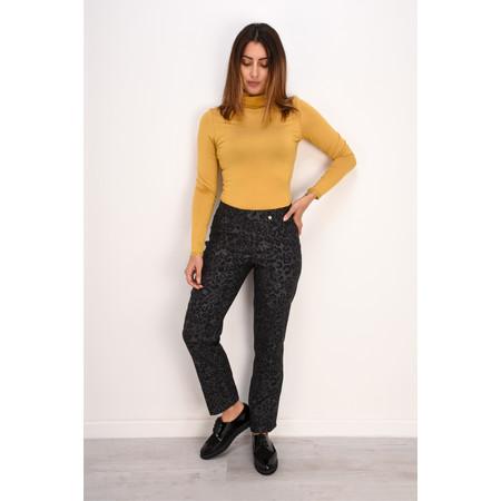 Robell Trousers Bella Full Length Animal Print Trouser - Grey