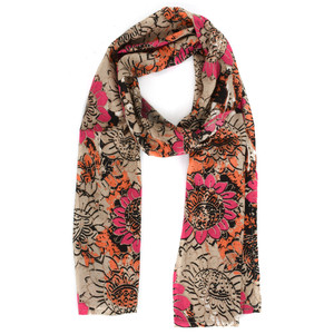 Masai Clothing Floral Along Scarf