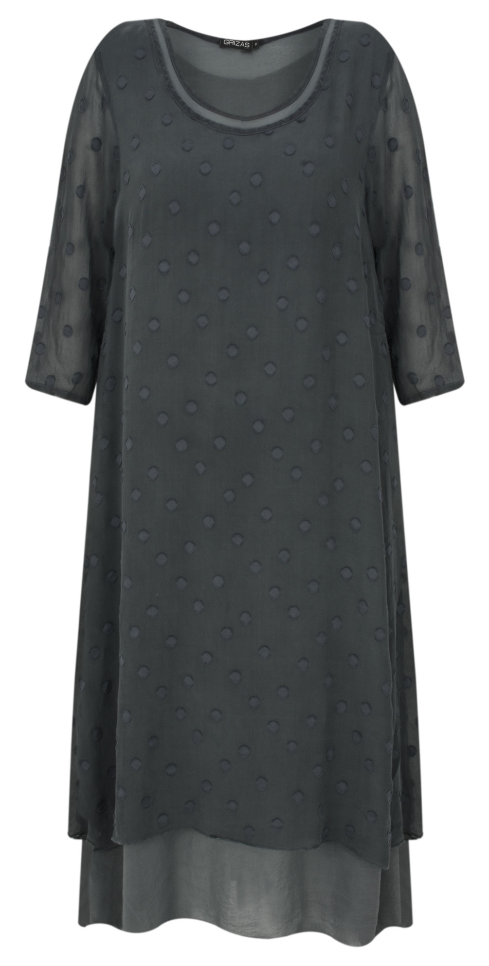 Davina Solid Spot Devore Dress main image