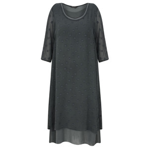 Grizas Davina Solid Spot Devore Dress