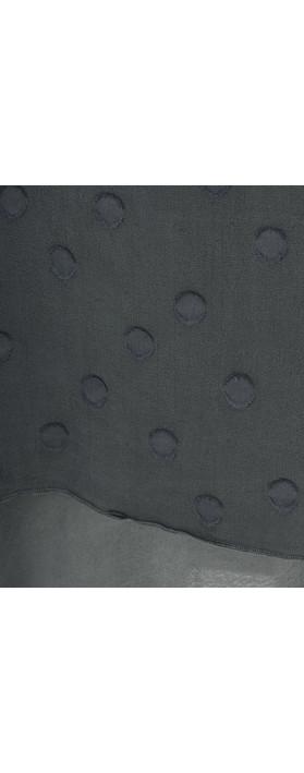 Grizas Davina Solid Spot Devore Dress Lead Grey