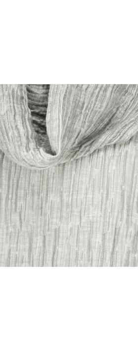Grizas Roda Solid Crinkle Top Grey