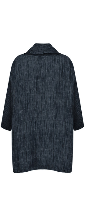 Grizas Roda Solid Crinkle Top Navy