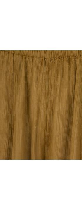 Grizas Vilma Solid Crinkle Trouser Golden Khaki