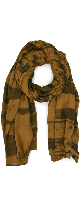 Grizas Anelli Brush Stroke Crinkle Scarf Golden Khaki