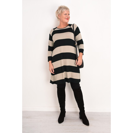 Masai Clothing Wide Stripe Grisla Tunic - Brown