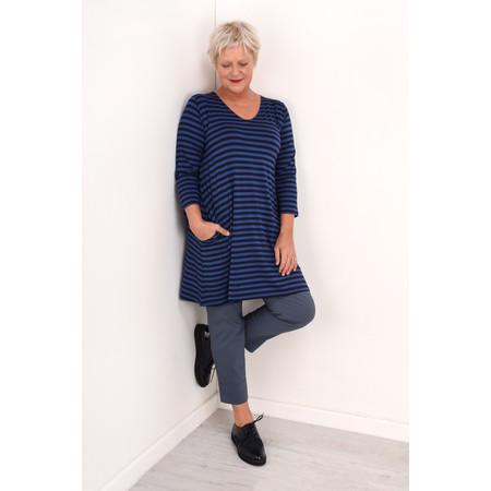 Masai Clothing Gretchen Stripe Tunic - Blue