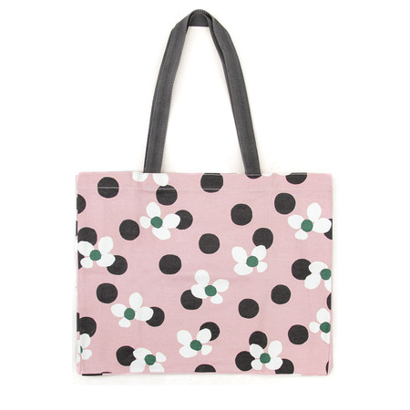 Caroline Gardner Polka Dot Floral Large Tote - Multicoloured