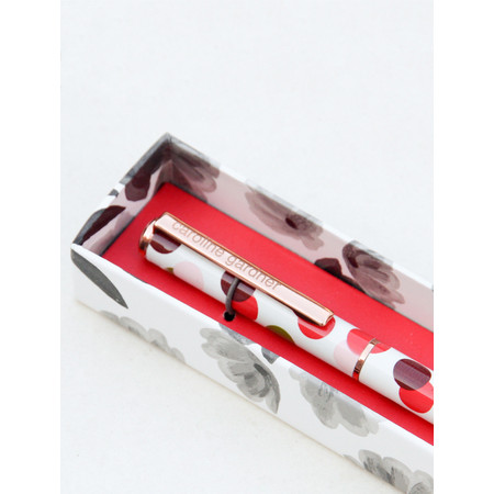Caroline Gardner Spotty Boxed Pen - Multicoloured