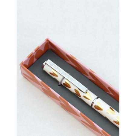 Caroline Gardner Gold Hearts Boxed Pen - Gold