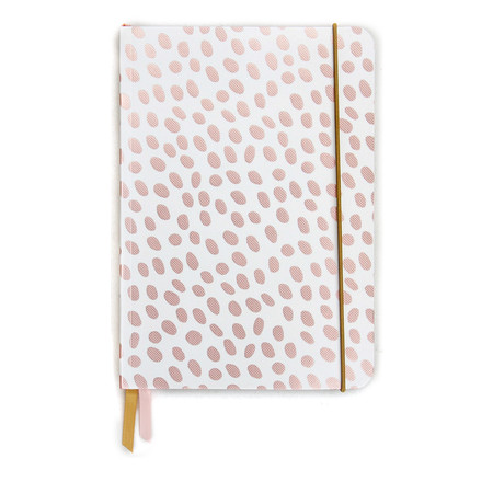 Caroline Gardner Dotty Rose Gold Metallic A5 Notebook - Gold