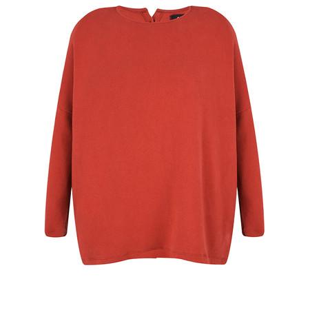 Mama B Cordova Plain Button Back Jumper - Red