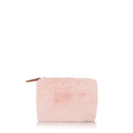 Caroline Gardner Faux Fur Purse - Pink