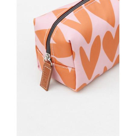 Caroline Gardner Heart Cube Cosmetic Bag - Pink