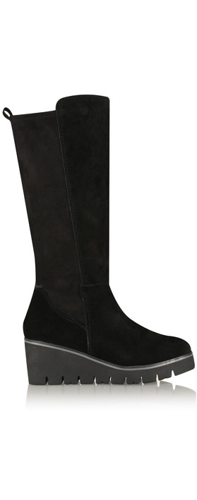 Marco Tozzi Lina Wedge Long Boot Black