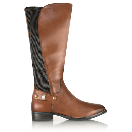 Caprice Footwear Karla Elasticated Long Boot - Brown