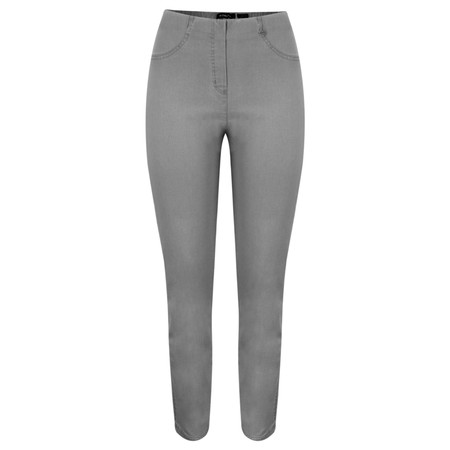 Robell Bella Dark Grey Slim Fit Full Length Jean - Grey
