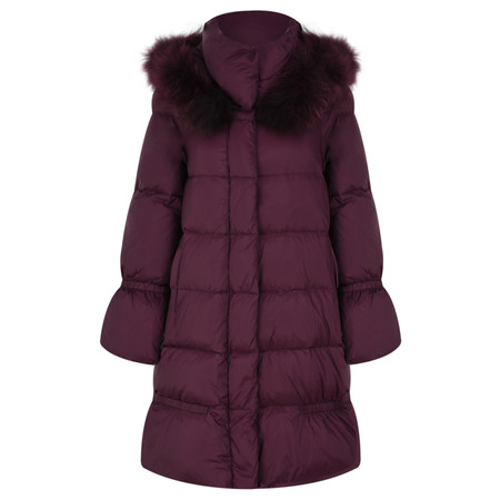 Lauren Vidal Oslo Luxury Puffa Coat - Red