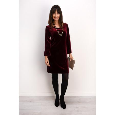 Lauren Vidal Amber Drape Velvet Dress - Red