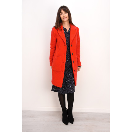 Sandwich Clothing Felted Wool Coat - Red