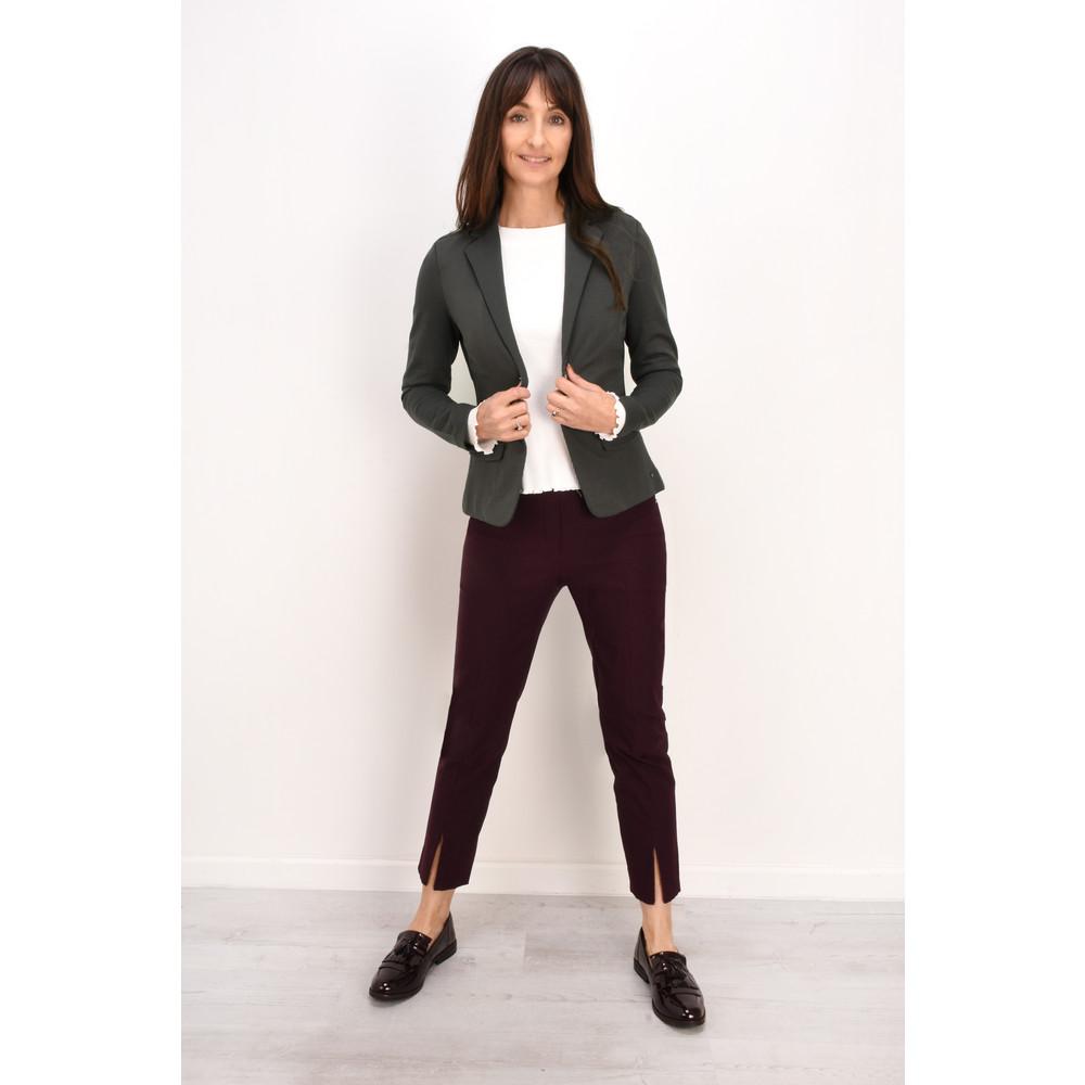 Robell Nena 09 Slimfit Fleece Lined Ankle Length Trouser  Bordeaux