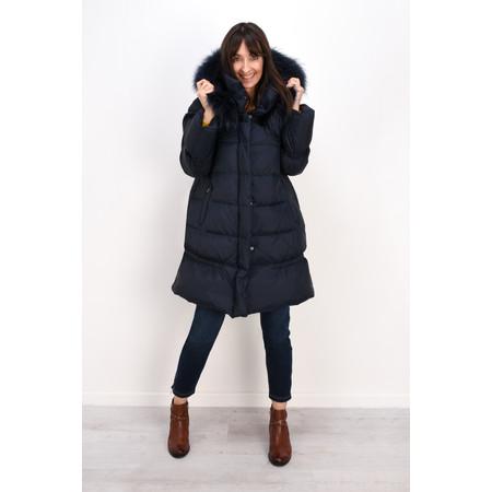 Lauren Vidal Oslo Luxury Puffa Coat - Blue