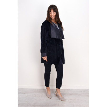 Lauren Vidal Luna Faux Fur Shearling Jacket - Blue