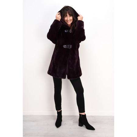 Lauren Vidal Oslo Supersoft Hooded Coat - Red