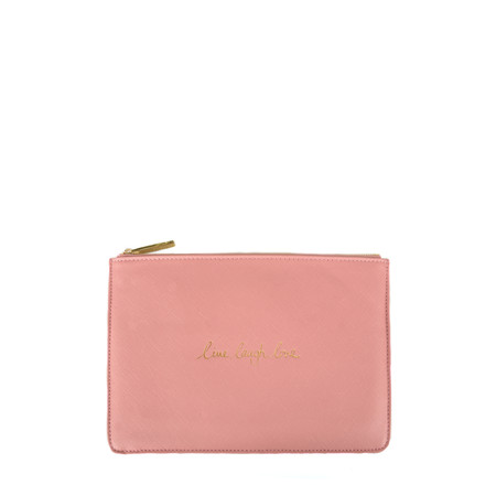 Katie Loxton Perfect Pouch - Live Laugh Love - Pink