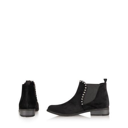 Marco Tozzi Stephanie Velvet Chelsea Stud Boot - Black