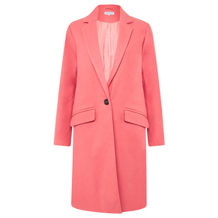 Great Plains Tailored Crombie Coat - Pink