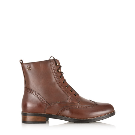Tamaris  Hazel Lace Up Ankle Boot - Brown