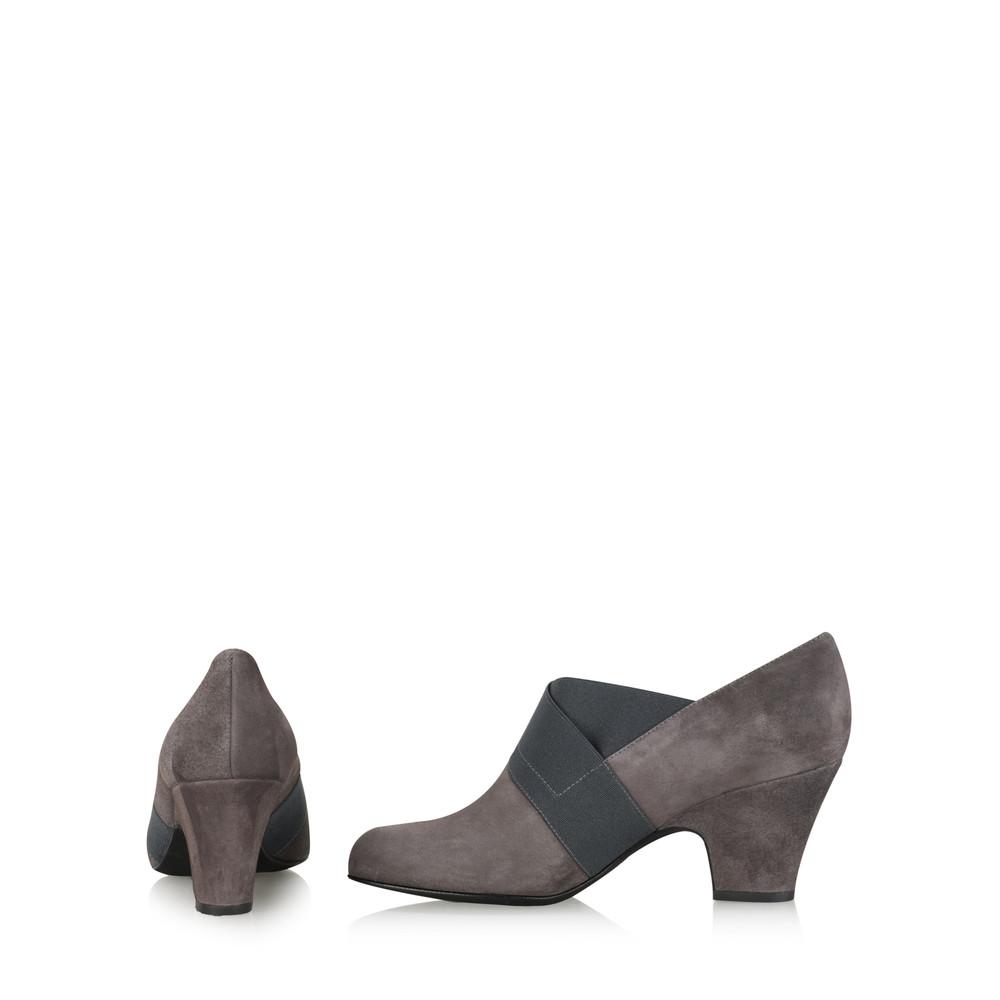 Gemini Label Shoes Bepra Anthracite Suede Crossover Elastic Shoe Anthracite